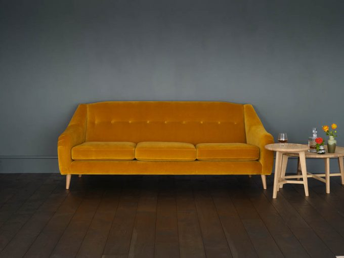 Living Room Model 2 Large Sofa (Ochre Velvet) lo res