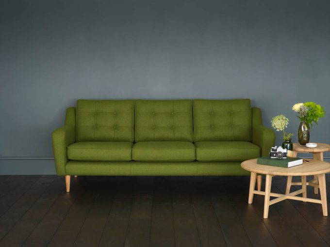 The Living Room Model 1 Large Sofa (Moss Wool_Front View) lo res